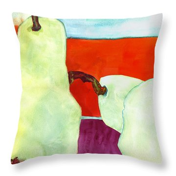 Fundamental Pears Still Life Throw Pillow by Blenda Studio