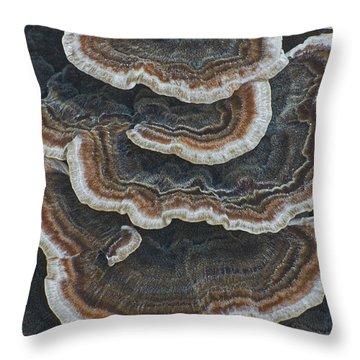 Fungal Canyon Throw Pillow