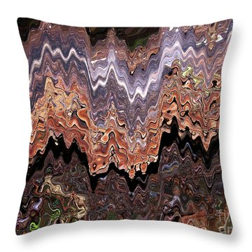 Fungi Art Throw Pillow by Sharon Talson