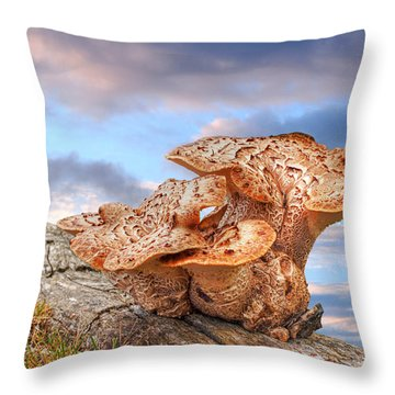 Funky Fungi Throw Pillow