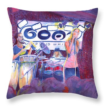 Funky Johnson At The Goat Throw Pillow by David Sockrider