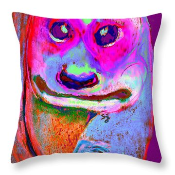 Funky Meerkat Tunnel Art Print Throw Pillow