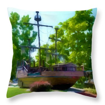Funplex Funpark Boat 3 Throw Pillow by Lanjee Chee