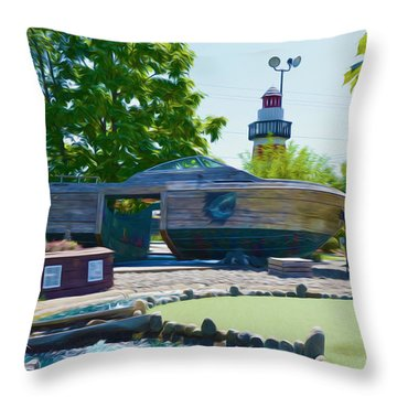 Funplex Funpark Boat 4 Throw Pillow by Lanjee Chee