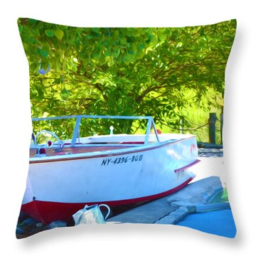 Funplex Funpark Boat 6 Throw Pillow by Lanjee Chee