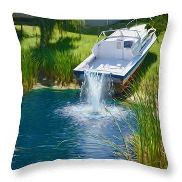 Funplex Funpark Boat 7 Throw Pillow by Lanjee Chee