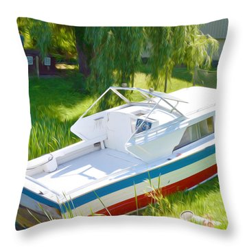 Funplex Funpark Boat 8 Throw Pillow by Lanjee Chee