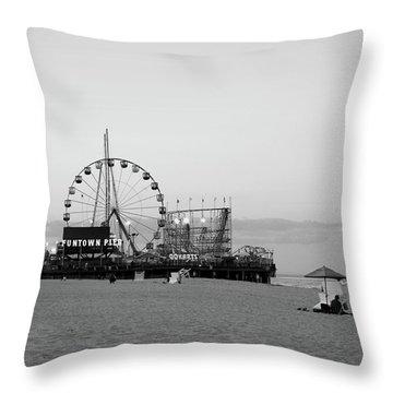 Funtown Pier - Jersey Shore Throw Pillow