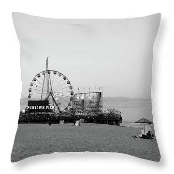 Funtown Pier - Jersey Shore Throw Pillow