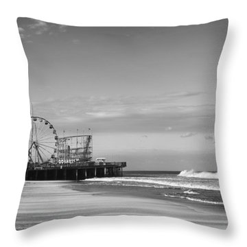 Funtown Pier Seaside Heights New Jersey  Throw Pillow by Terry DeLuco