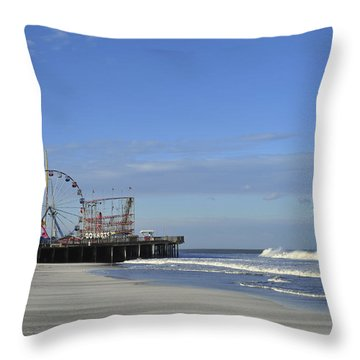 Funtown Pier Seaside Heights Nj Jersey Shore Throw Pillow by Terry DeLuco