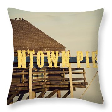 Funtown Vintage Throw Pillow by Terry DeLuco