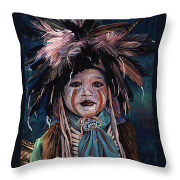 Fur And Feathers Throw Pillow