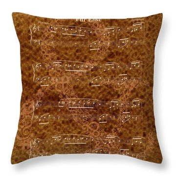 Fur Elise Music 2 Digital Painting Throw Pillow