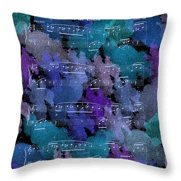 Fur Elise Music Digital Painting Throw Pillow