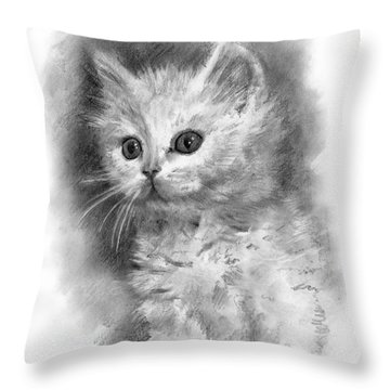 Furball Throw Pillow