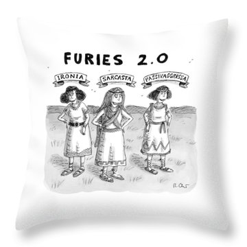 Furies 2.0 -- Ironia Throw Pillow