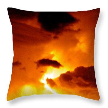 Furious Sky Throw Pillow