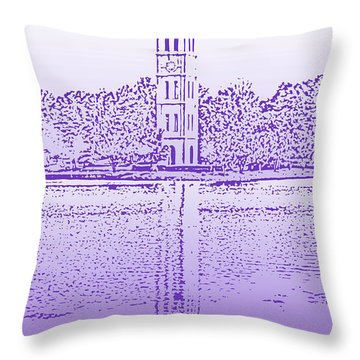 Furman Bell Tower Throw Pillow
