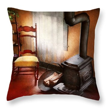 Furniture - Chair - Where She Spent Most Of Her Days Throw Pillow by Mike Savad