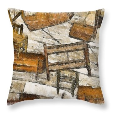 Furniture Throw Pillow by Trish Tritz