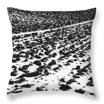 Furrowed Throw Pillow by John Farnan