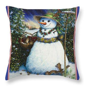 Furry Friends Throw Pillow
