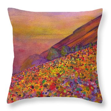 Furthur At Redrocks 2011 Throw Pillow