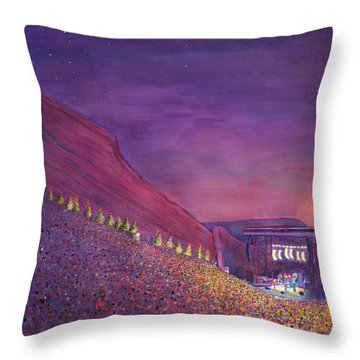 Furthur Red Rocks Equinox Throw Pillow by David Sockrider