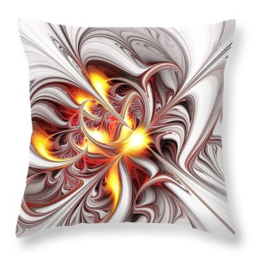 Fury Throw Pillow by Anastasiya Malakhova