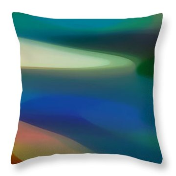 Fury Panoramic Vertical 3 Throw Pillow by Amy Vangsgard