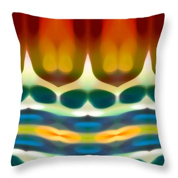 Fury Pattern 7 Throw Pillow by Amy Vangsgard