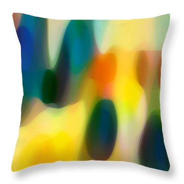 Fury Rain 1 Throw Pillow by Amy Vangsgard