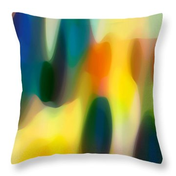 Fury Rain 3 Throw Pillow by Amy Vangsgard