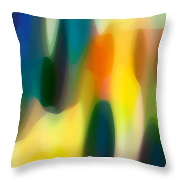 Fury Rain 4 Throw Pillow by Amy Vangsgard