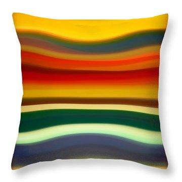 Fury Sea 2 Throw Pillow by Amy Vangsgard