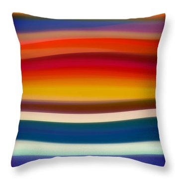 Fury Sea 8 Throw Pillow by Amy Vangsgard