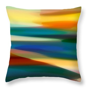 Fury Seascape 6 Throw Pillow by Amy Vangsgard