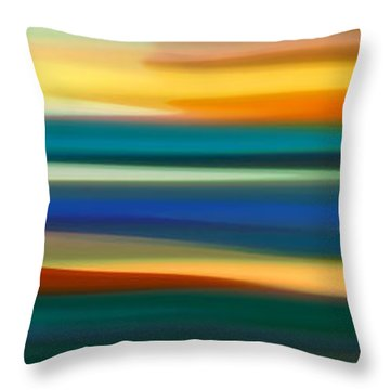 Fury Seascape Panoramic 1 Throw Pillow