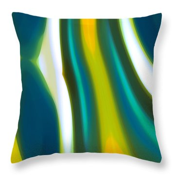 Abstract Tide 9 Throw Pillow