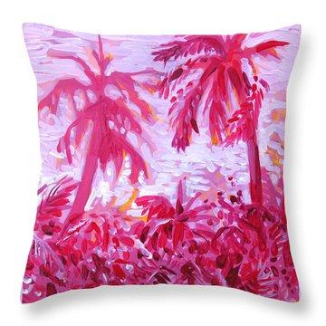 Fuschia Landscape Throw Pillow