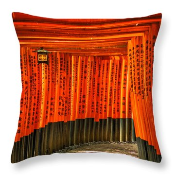Fushimi Inari Throw Pillow