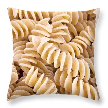 Fusilli Rotini Pasta  Throw Pillow