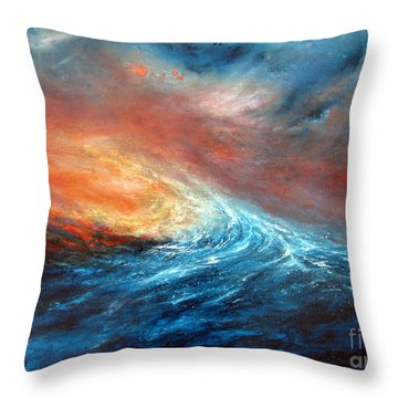 Fusion Throw Pillow by Valerie Travers