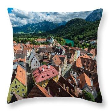 Fussen - Bavaria - Germany Throw Pillow