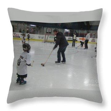 Future Hockey Players Throw Pillow