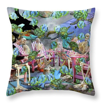 Future Of The Sea Committee  Throw Pillow by Betsy Knapp