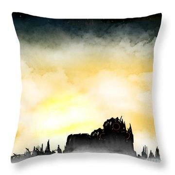 Future Skyline Throw Pillow by Thomas OGrady