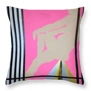 Futurhistic Throw Pillow by Erika Chamberlin