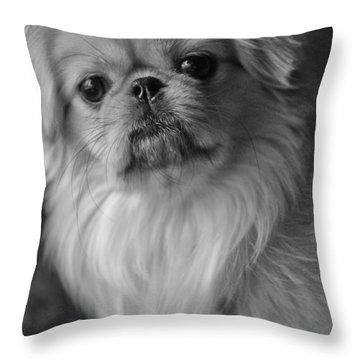 Fuzzface Throw Pillow